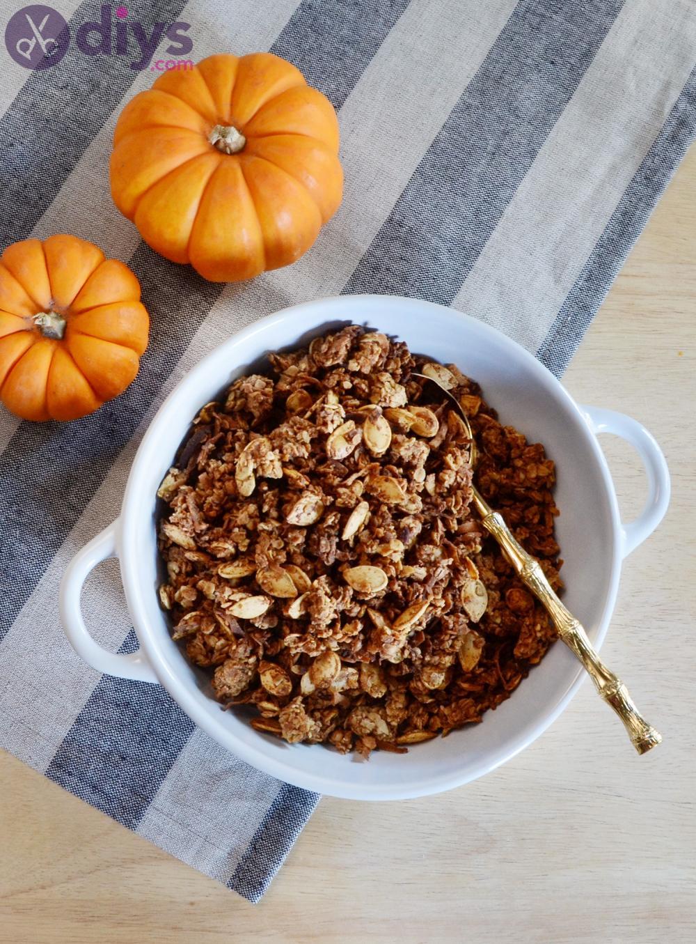 Pumpkin spice granola thanksgiving appetizer ideas