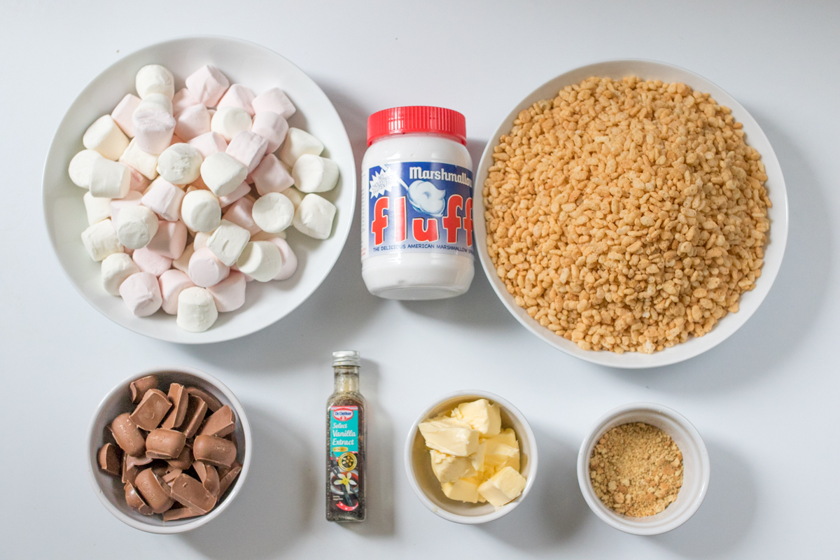 Rice krispie smores bars ingredients