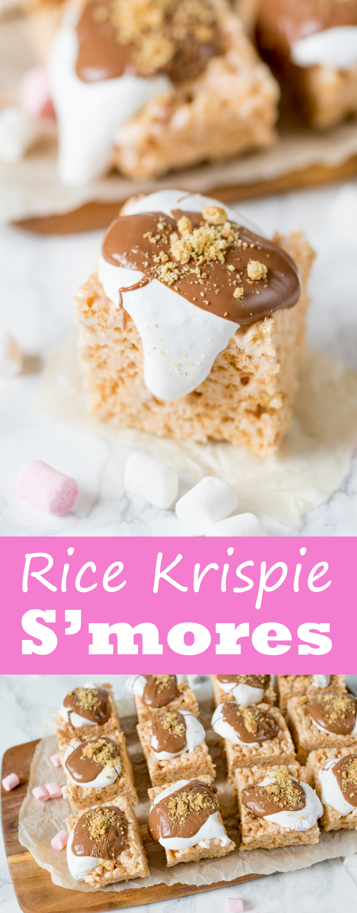Rice krispie smores bars pinterest
