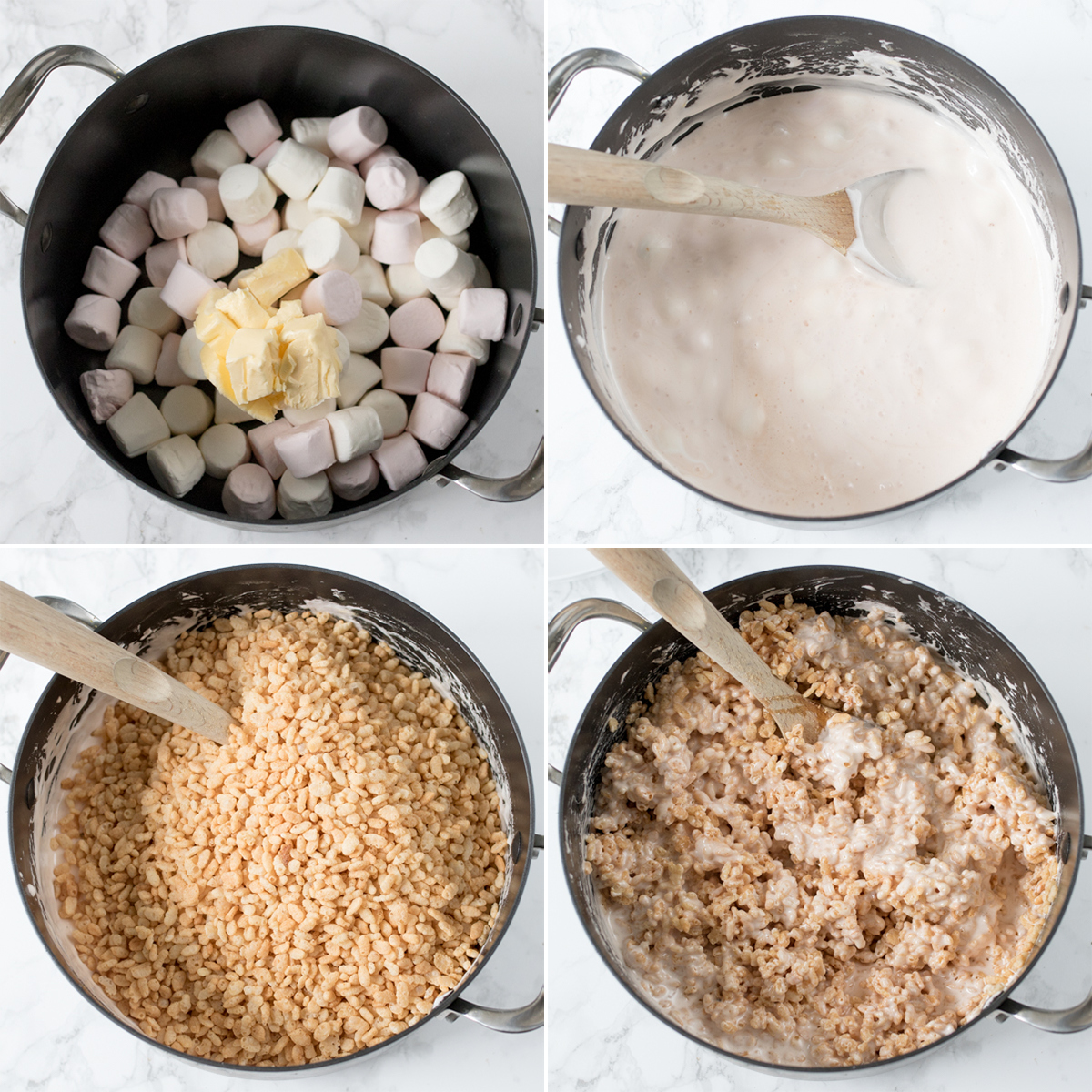 Rice krispie smores bars step1 collage