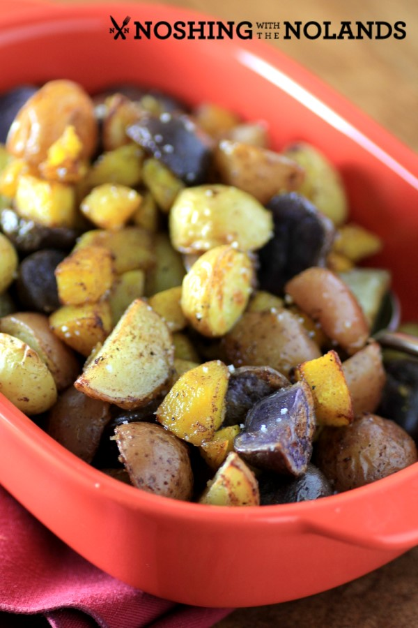 Roasted cinnamon little potatoes and pumpkin by noshing with the nolands custom