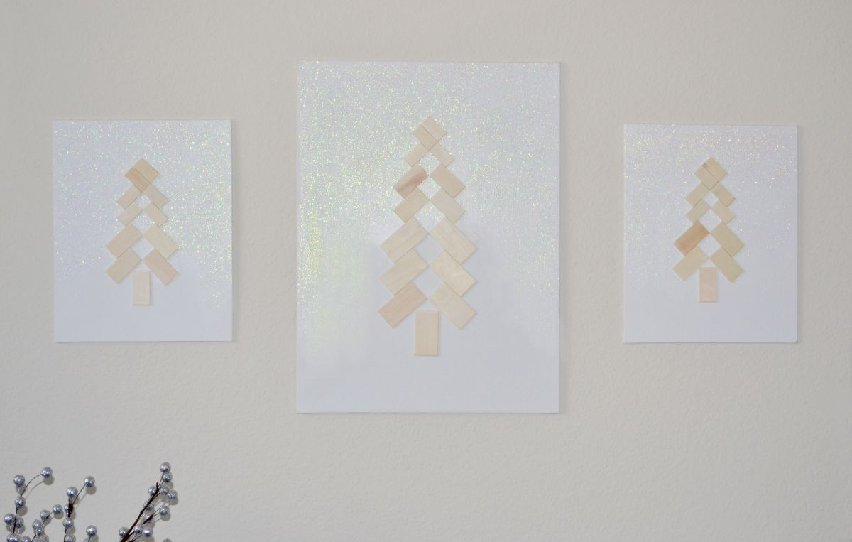 Scandinavian christmas tree art