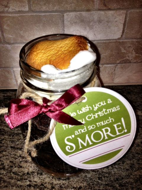 S'more cake in a jar