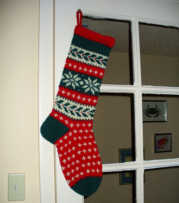 Traditional Knitted Christmas Stockings