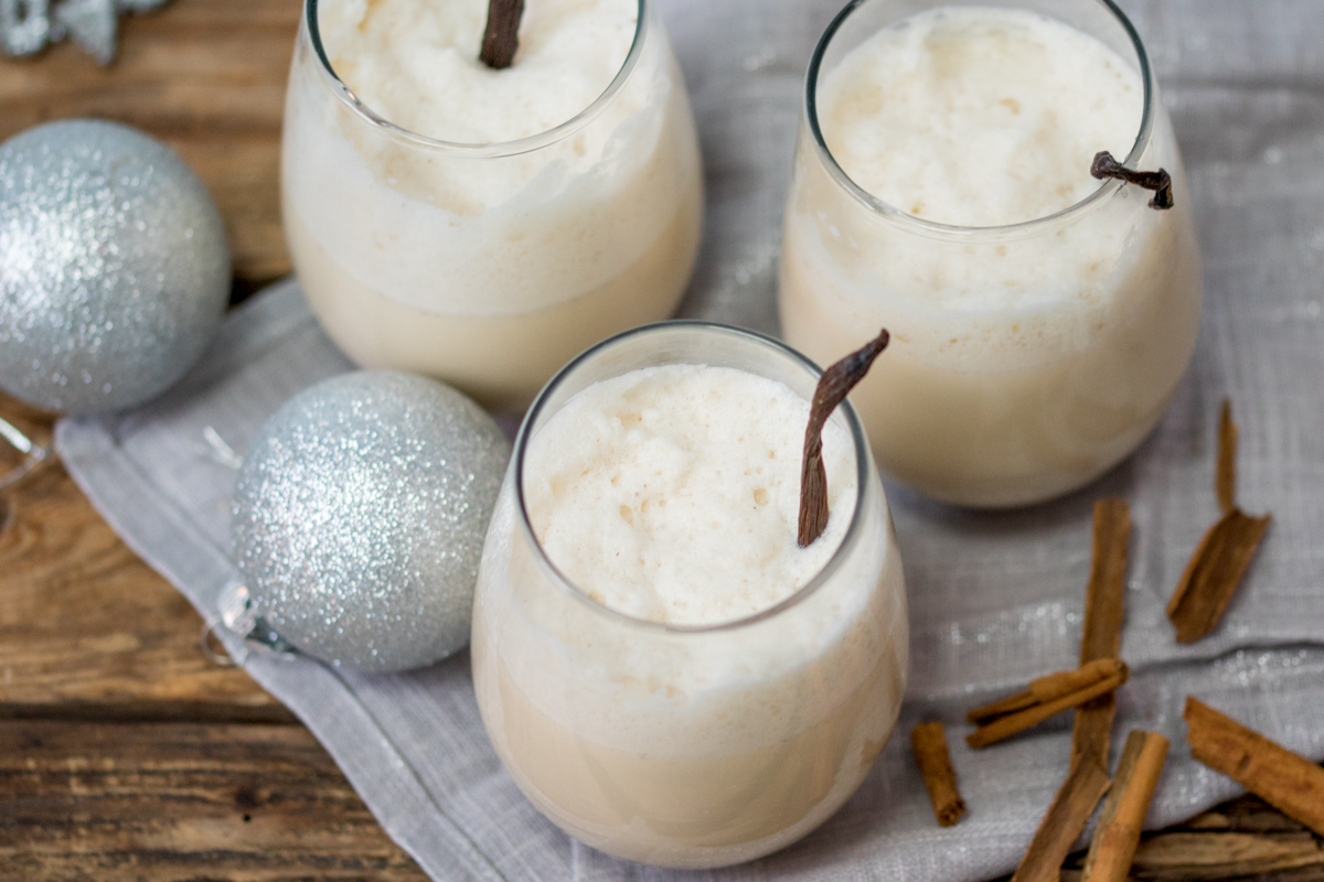 Rum and ginger Eggnog – a traditional festive drink with a bit of a twist!