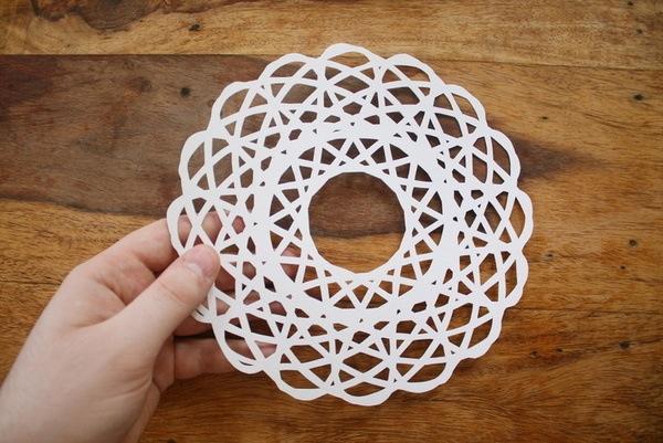Spirograph snowflake