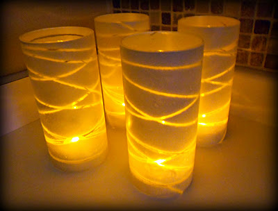 Spray painted glass lanterns