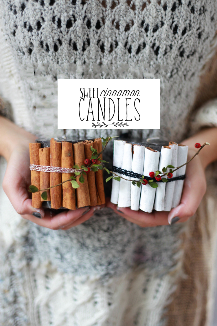 Sweet cinnamon candles diy
