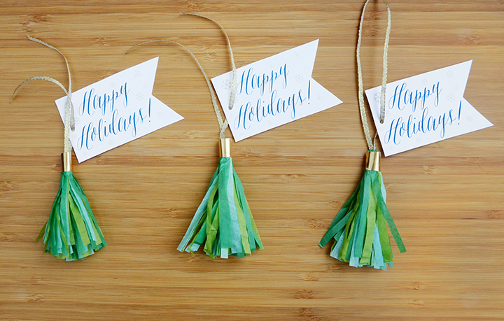 Tassel gift tags project