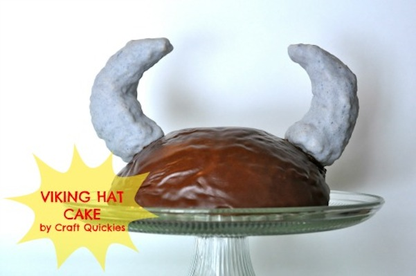 Viking hat cake