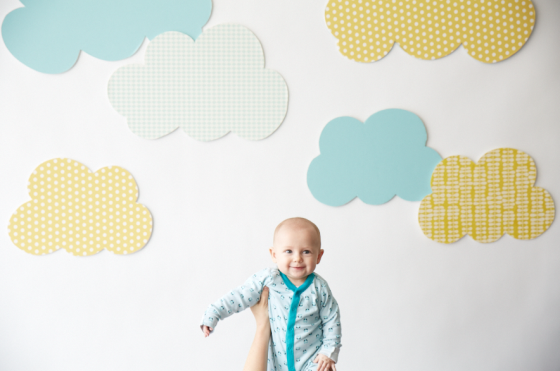Wallpaper nursery clouds