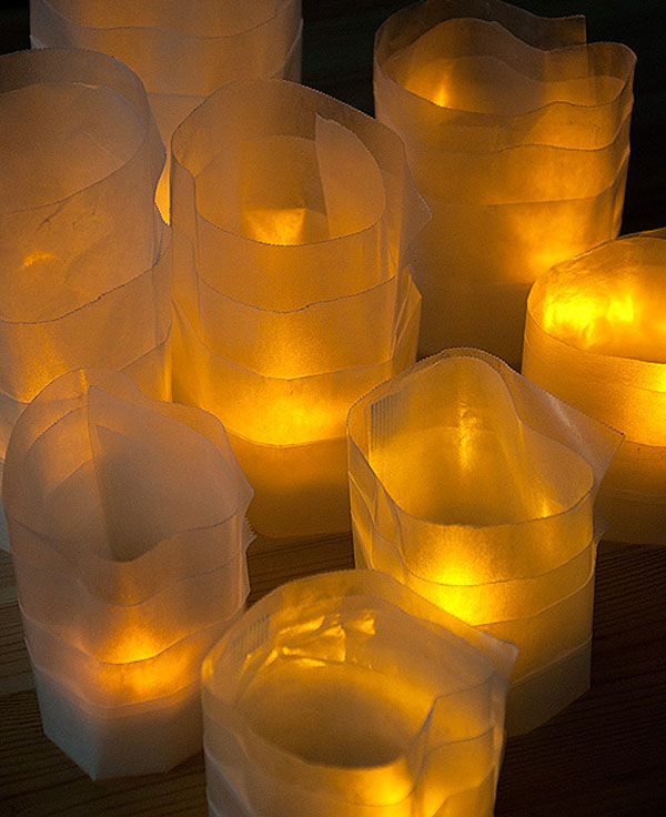 Wax paper luminaries