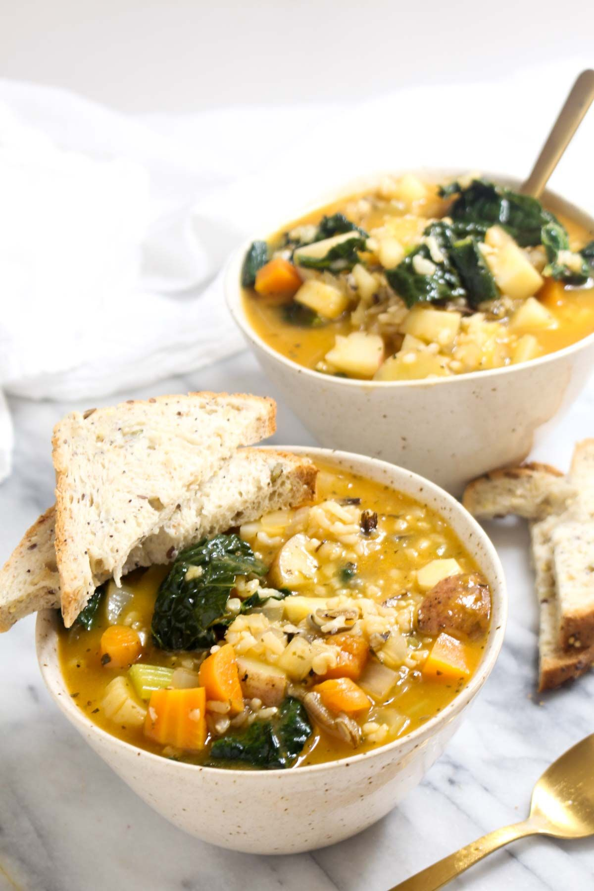 Winter vegetable soup for cold season