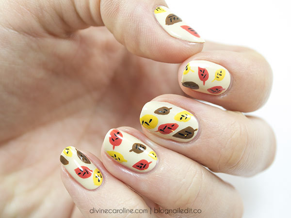 Abstract leaf design for your nails