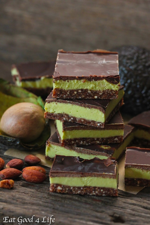 Avocado cream bars