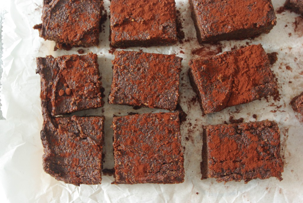 Avocado sweet potato brownies