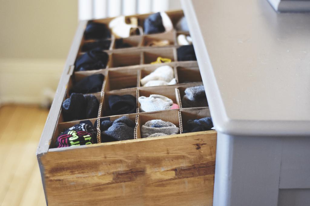 Cardboard drawer organizer