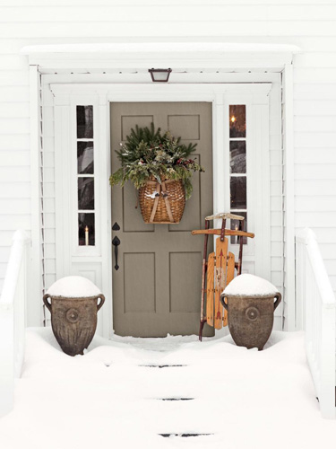 Christmas front door diy
