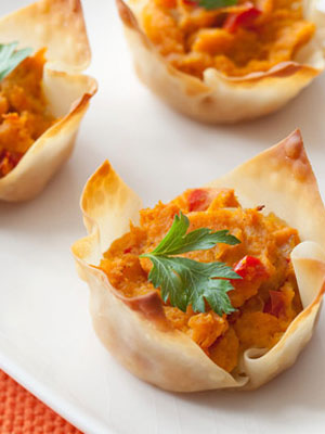 Curry sweet potato cups