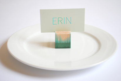 Dip dye place card holder diy