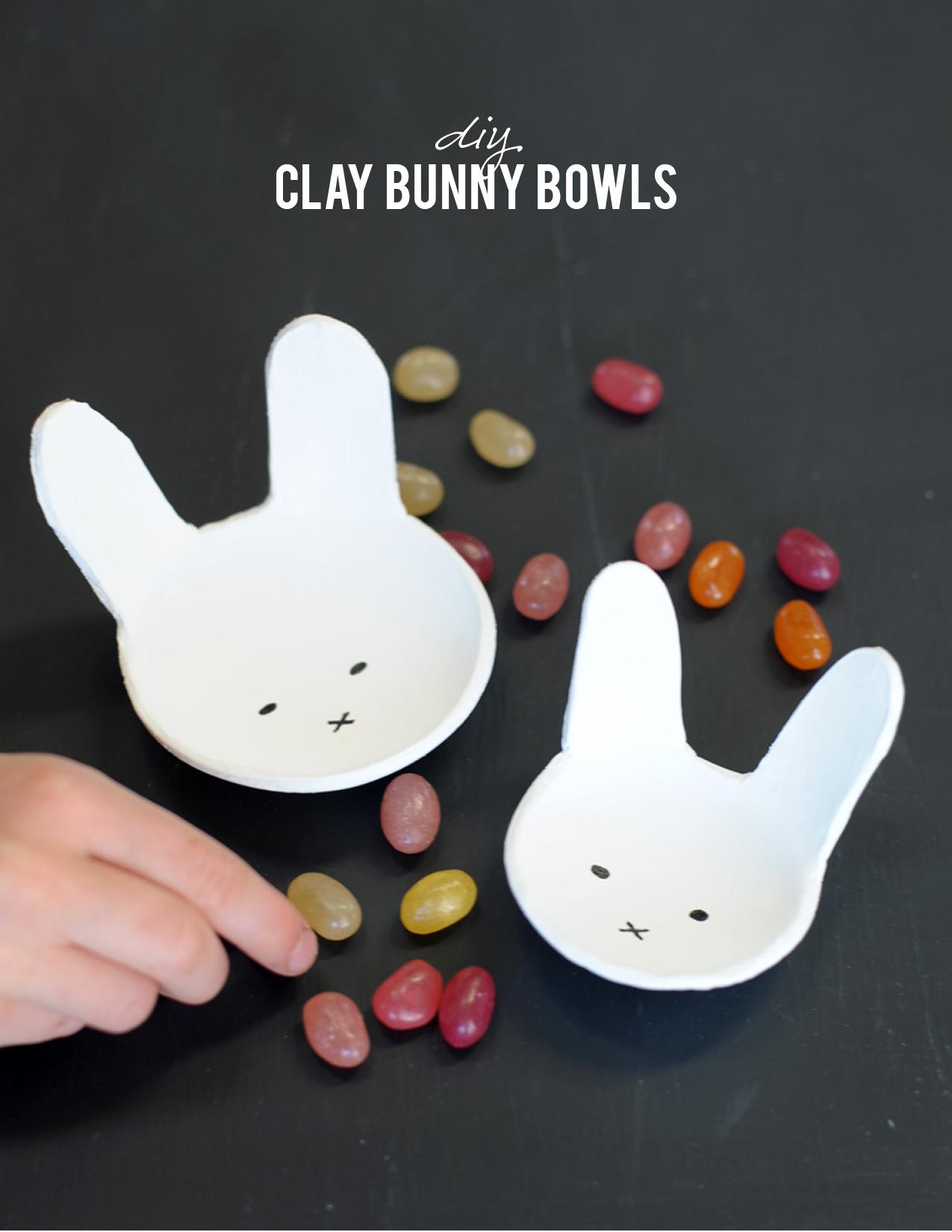 Diy bunny bowls