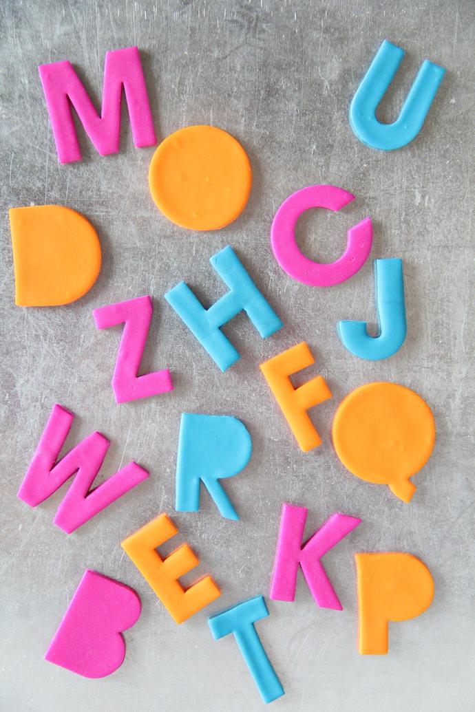 Diy clay alphabet magnets