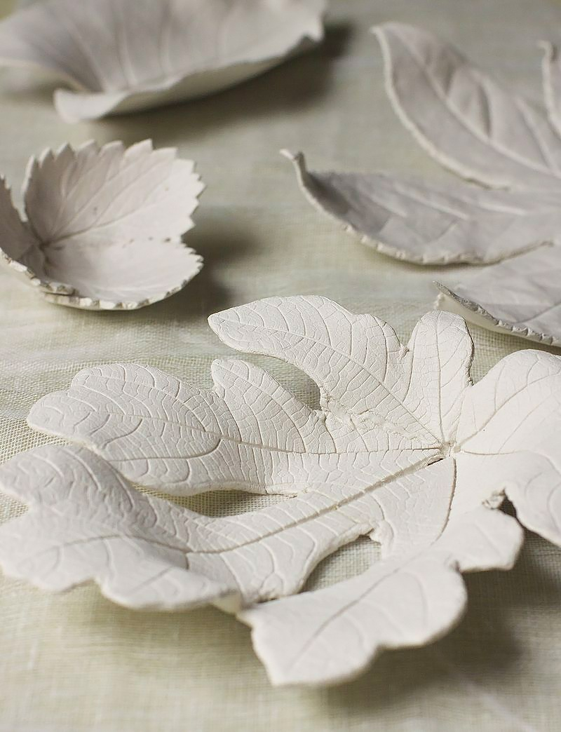 Diy clay leafs