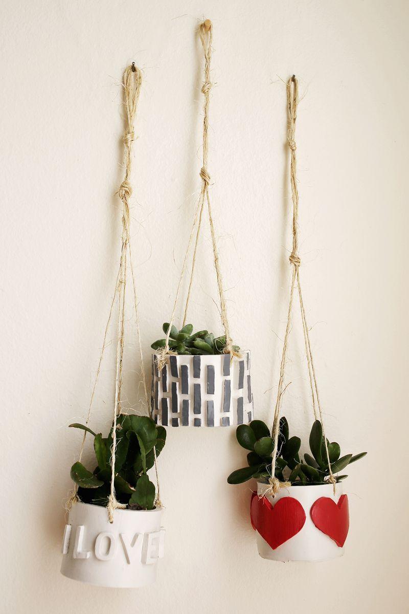 Diy clay mini planter