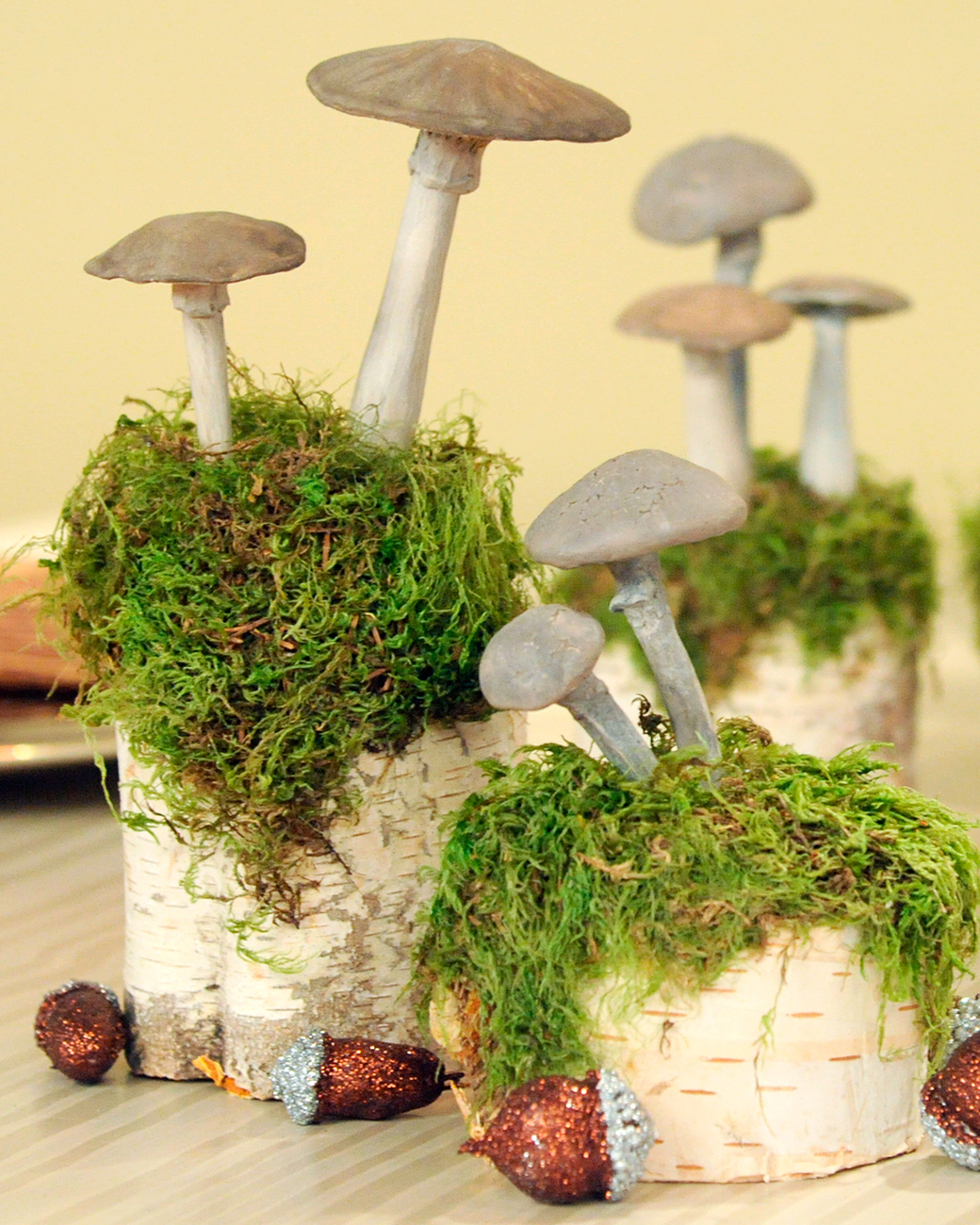 Diy clay mushrooms