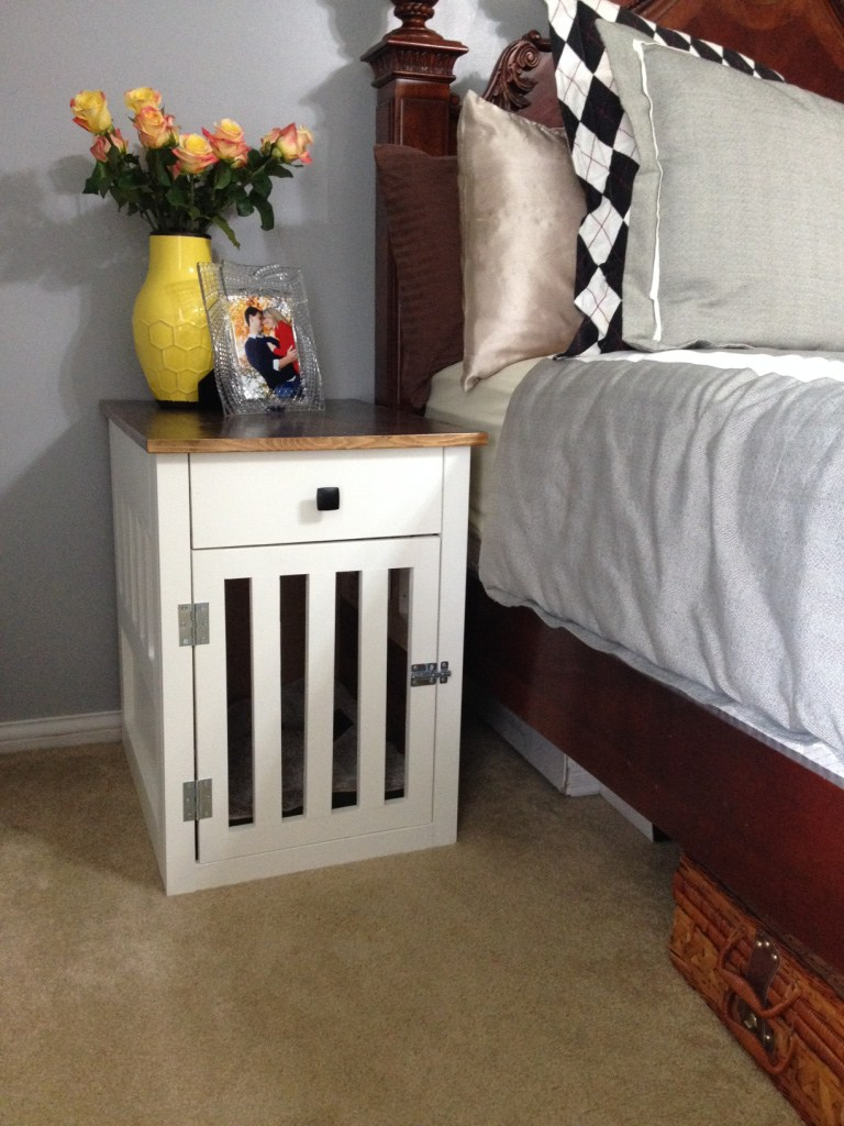 Diy dog crate nightstand