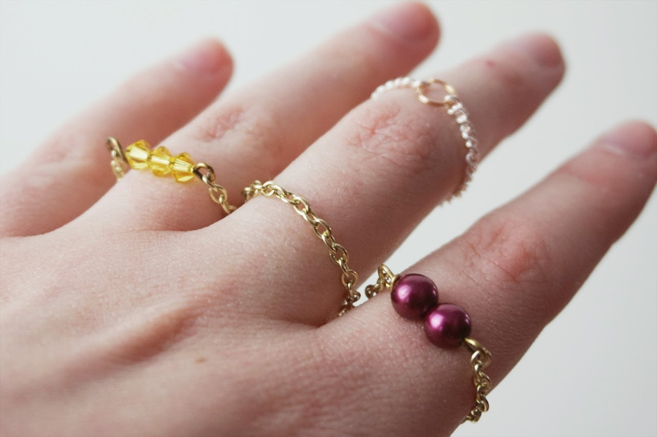 Diy elegant chain rings