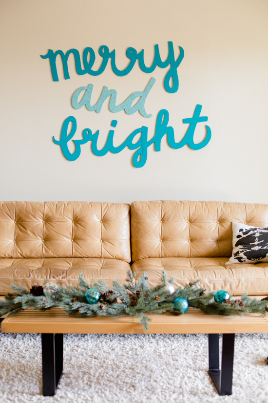 Diy holiday wall art decorations