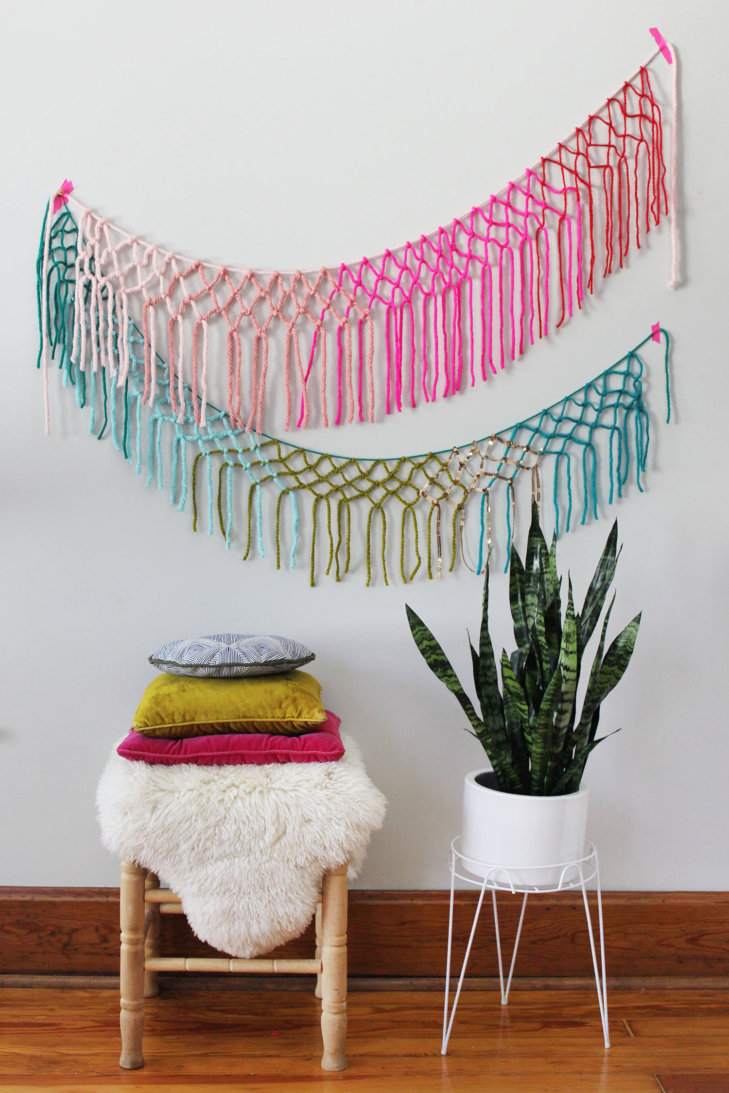 Diy macrame wall garland