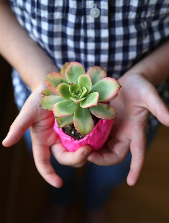 Diy mini painted clay pots