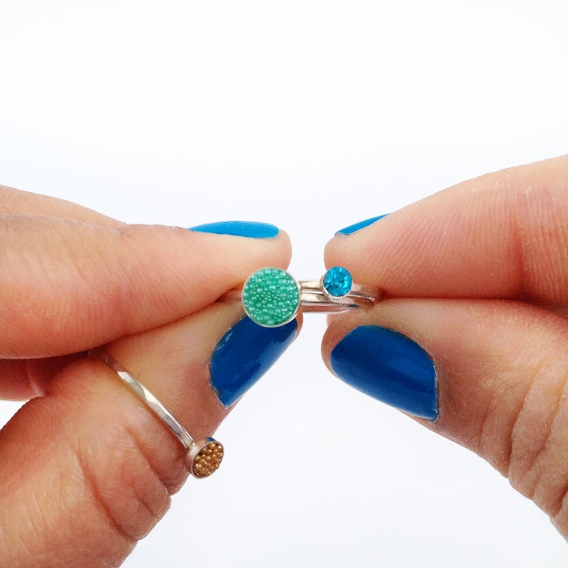 Diy stackable jewelry rings