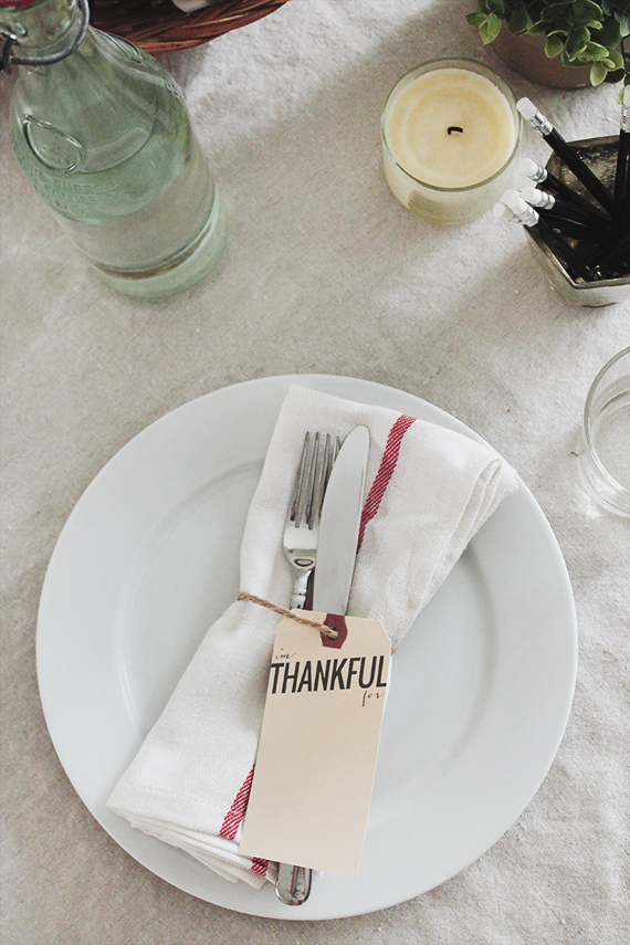 Diy thankful tag printables