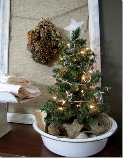 Diy vintage bowl tree stand