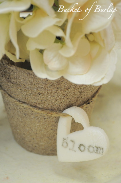 Diy white clay tags