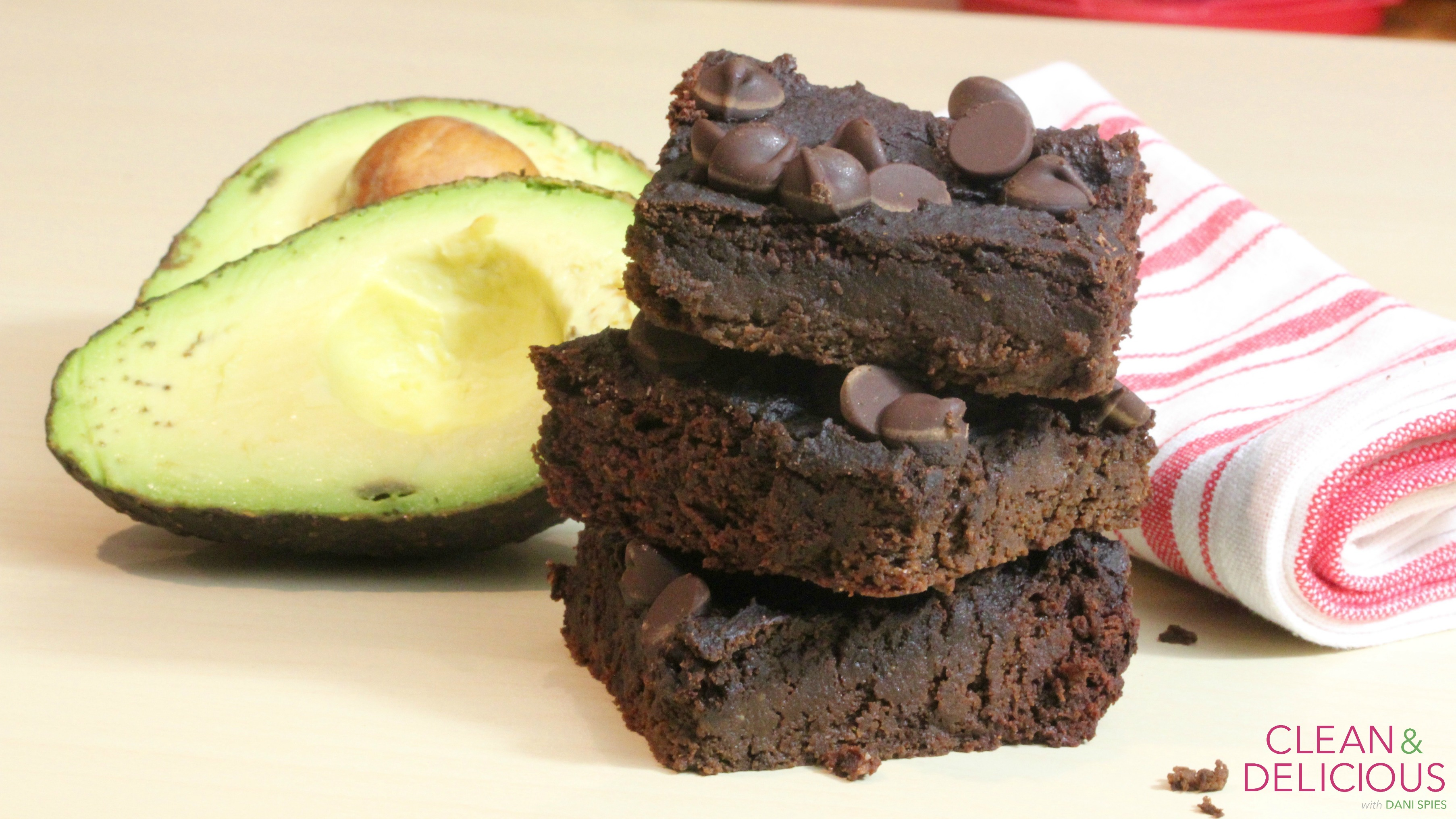 Double chocolate avocado brownies