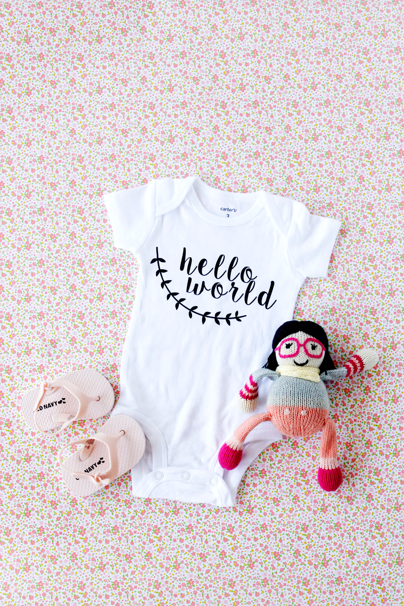Easy hello world onesie tutorial