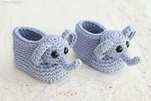 Elephant booties pregnancy gift