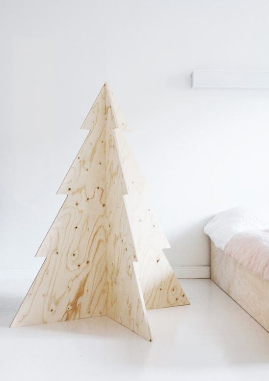 Extra modern wood christmas tree