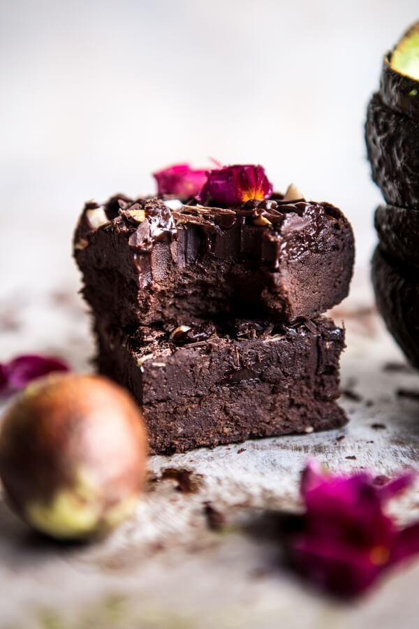 Fudgy avocado brownies with chocolate frosting