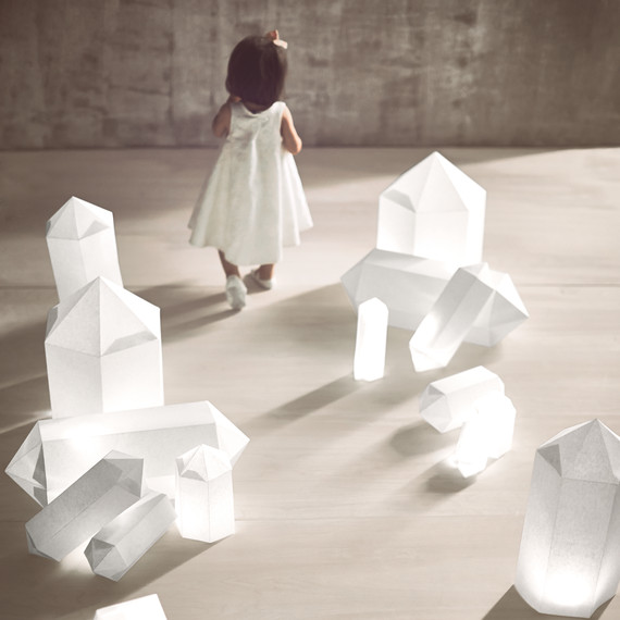 Geode paper lanterns diy