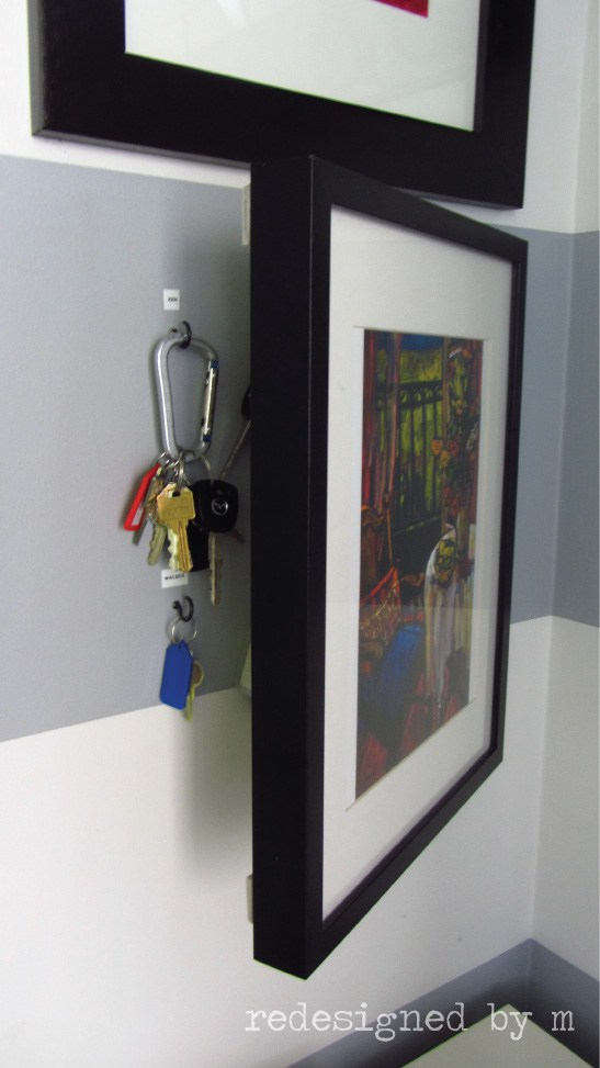 Hidden key organizer