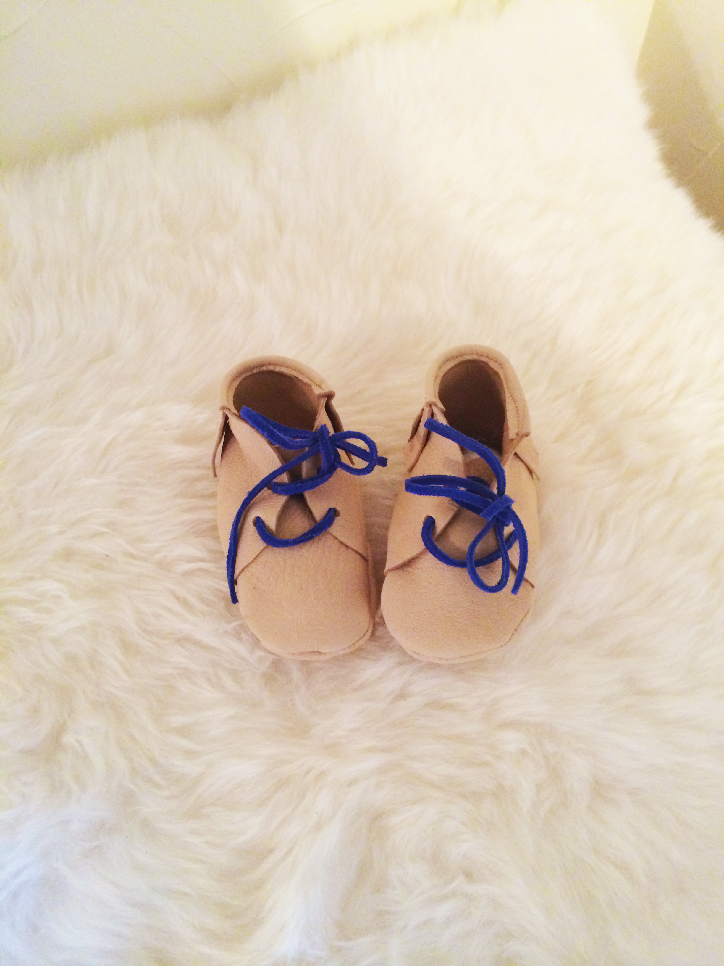 Leather moccasin shoe tutorial baby