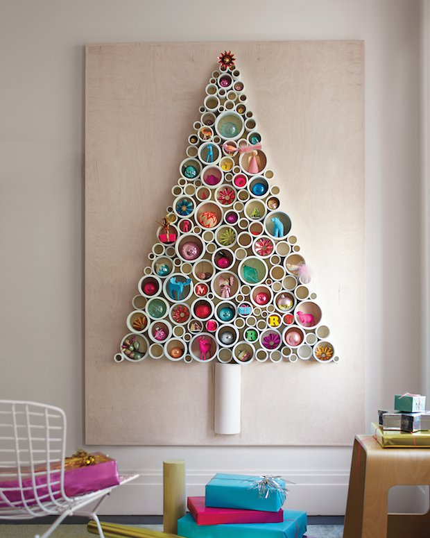 Marthastewart pvc pipe christmas tree 01