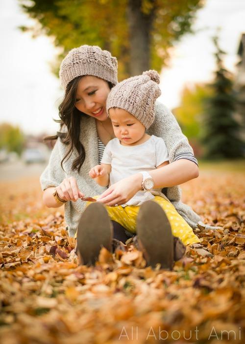 Mom and baby matching beanie