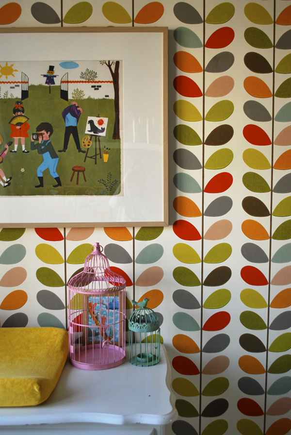 Orla Kiely Colorful Wallpaper Design
