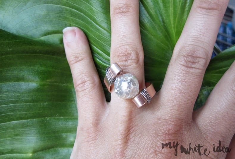 Pearl ring diy